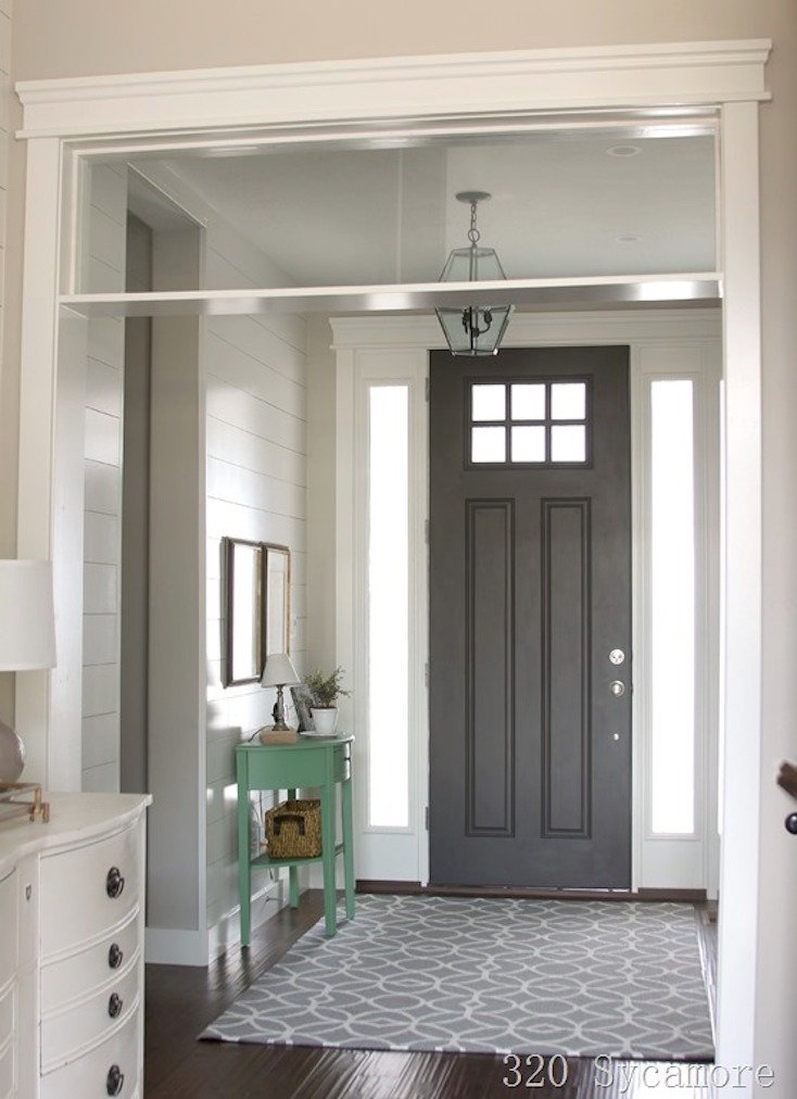 Popular front door paint colors for Images of painted doors