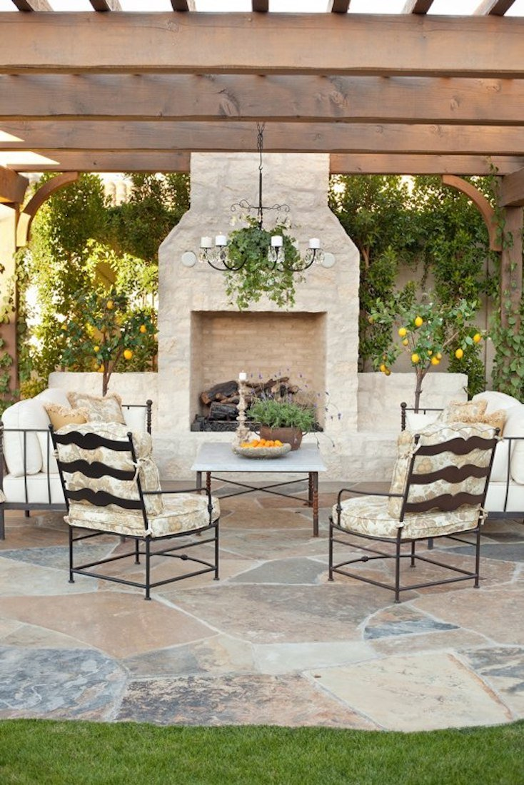 creative outdoor fireplace designs and ideas. Black Bedroom Furniture Sets. Home Design Ideas