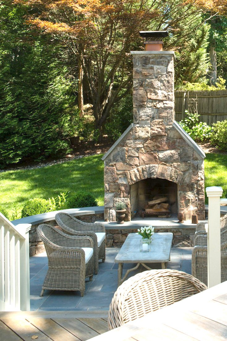 Creative outdoor fireplace designs and ideas for Backyard fireplace plans