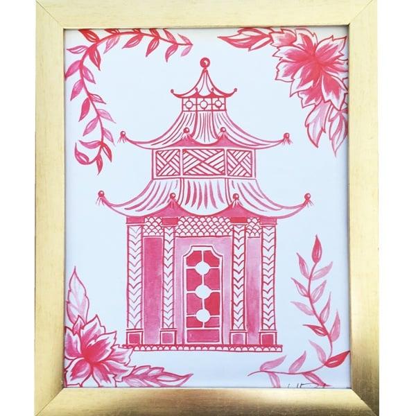 PinkPagoda 8x10Print by artist Mari Robeson