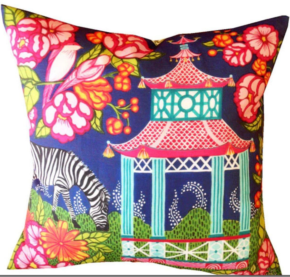 Chinoiserie Garden Pillow. Mari Robeson