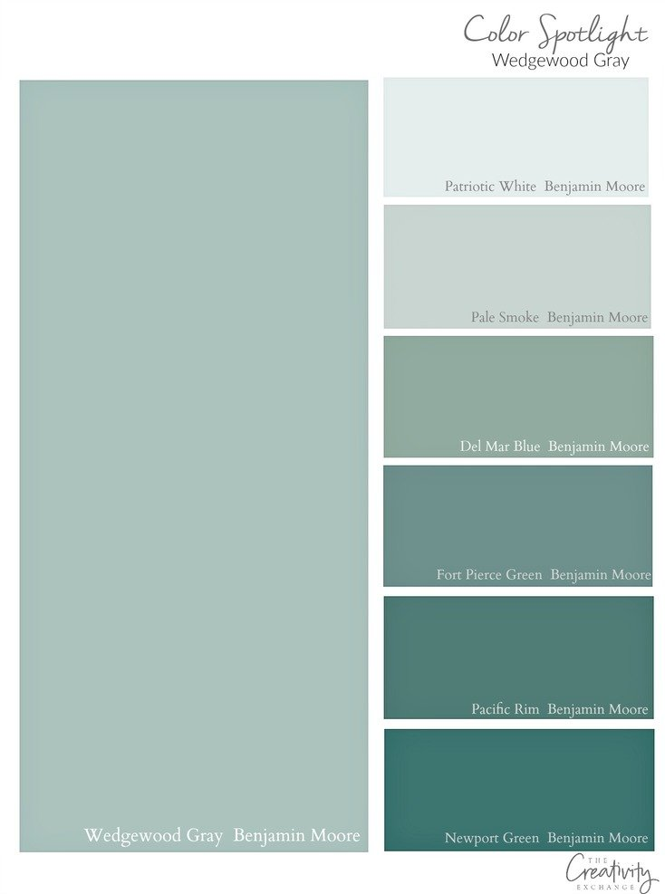Shades of Benjamin Moore Wedgewood Gray