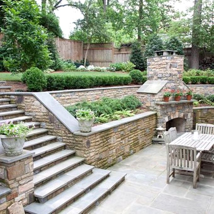 sloping backyard landscaping ideas pictures