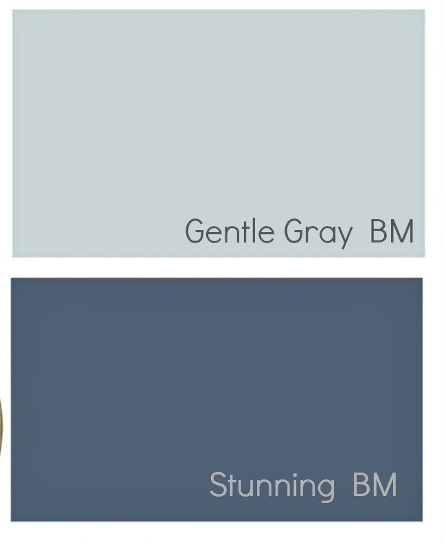 Transitional blue paint colors.