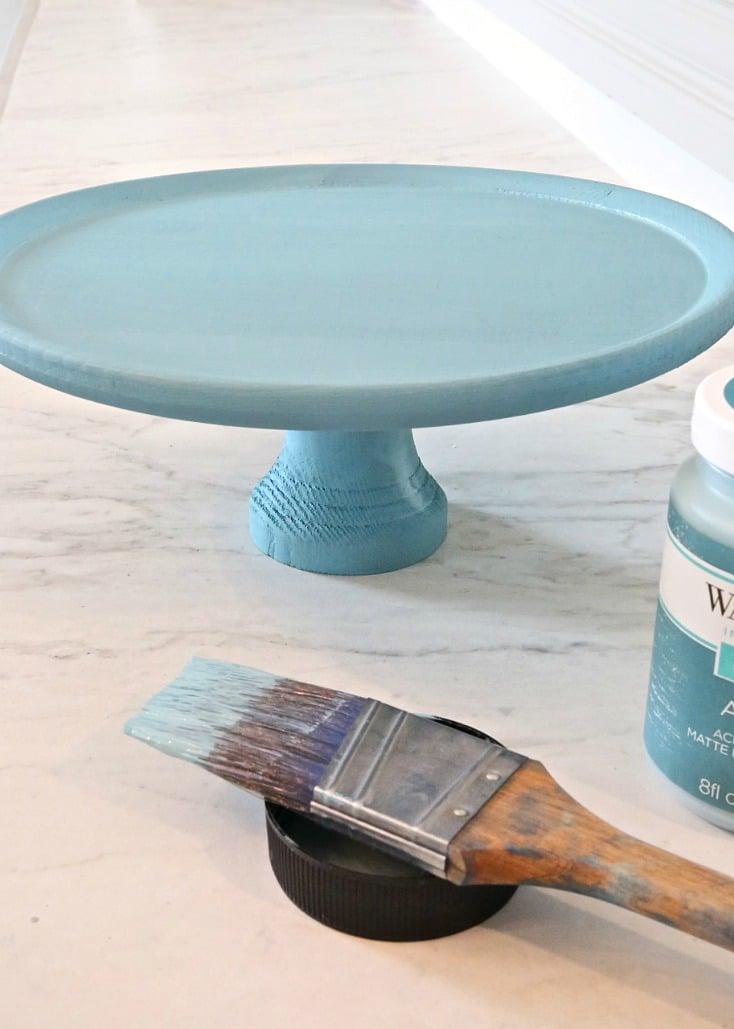 Using chalk type paints versus milk paints.