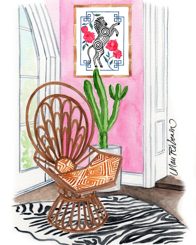 Zebra Bohemian Room by Artist Mari Robeson