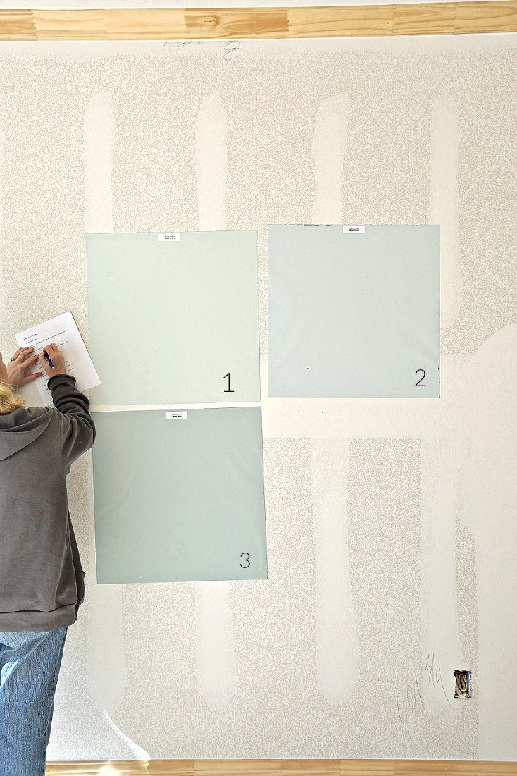 Choosing whole home paint colors.