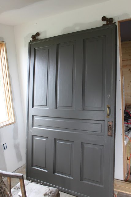Door color is Benjamin Moore Dragons Breath.