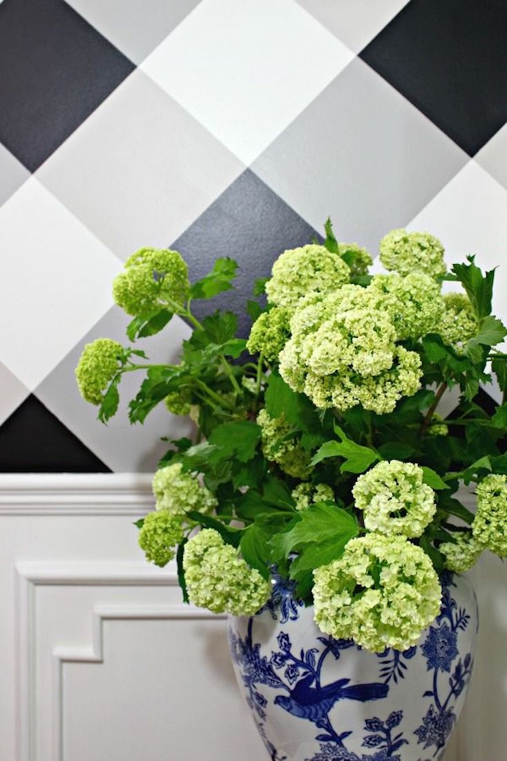 Gingham Painted Wall