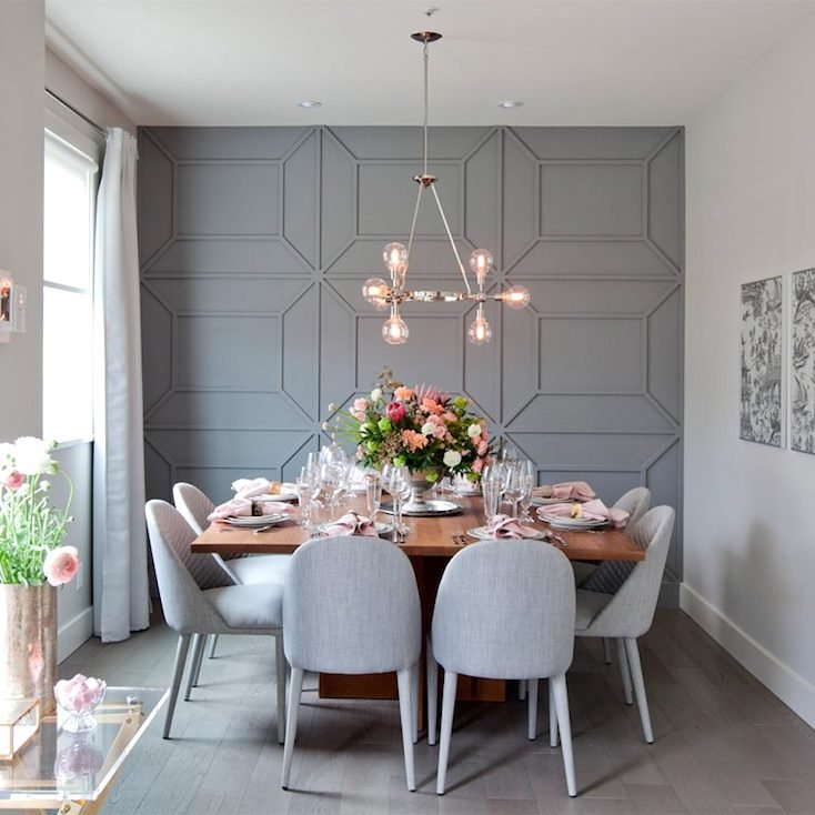Creative diy wall treatments for Dining room ideas on pinterest