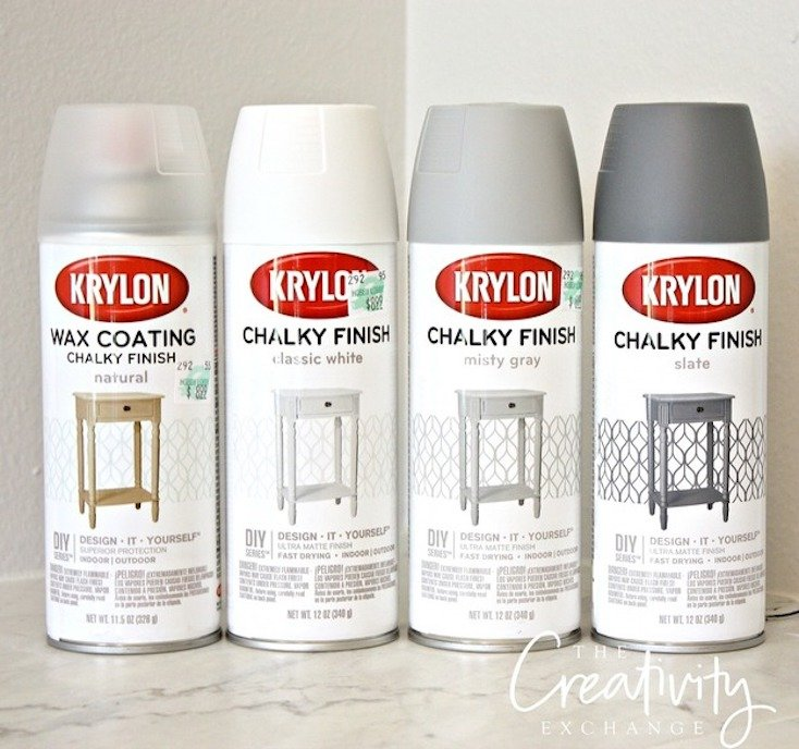 is the amazing finish you can get with the krylon chalky paint finish. Black Bedroom Furniture Sets. Home Design Ideas
