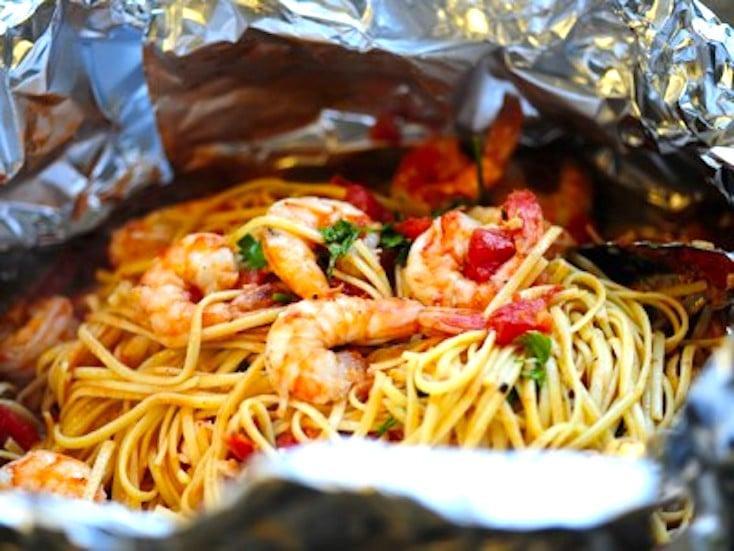 Shrimp Pasta Foil Package