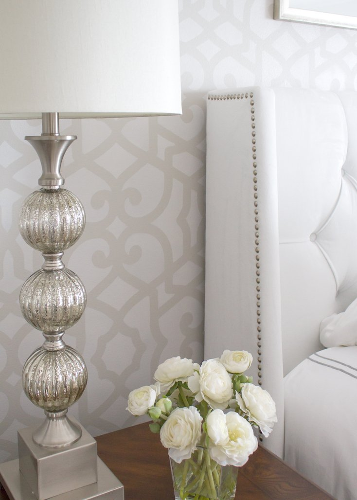 Tone-on-Tone Stenciled Wall