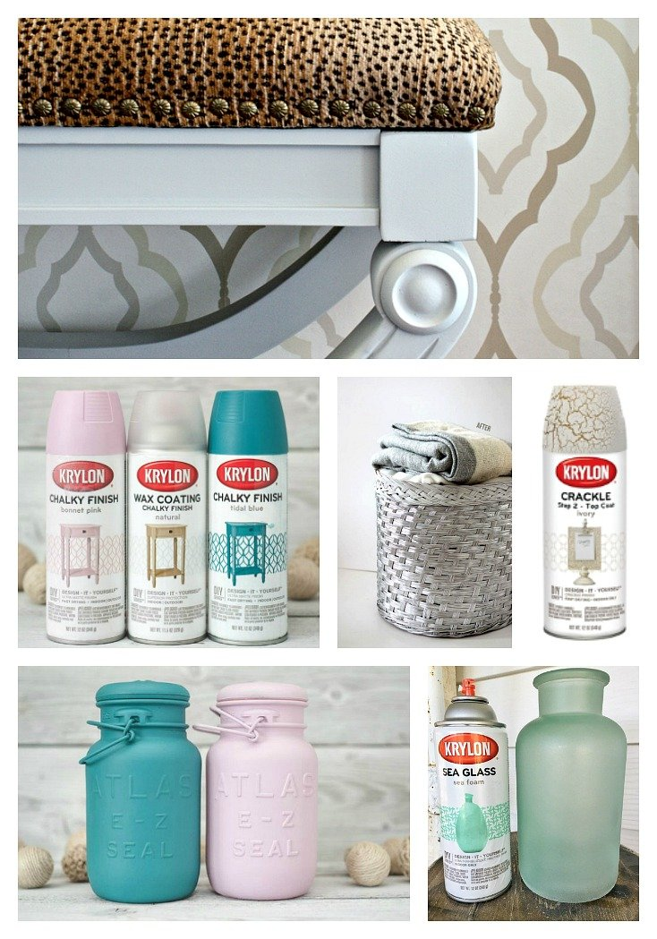 Cool spray paint products to try to transform your home.