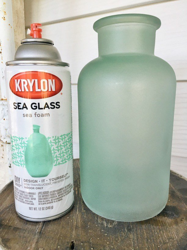 krylon s sea glass spray paint learn how with liz marie s post. Black Bedroom Furniture Sets. Home Design Ideas