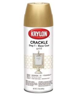 Krylon's New Spray Crackle Base Coat