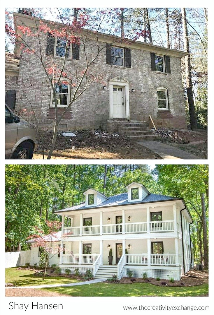 Jaw dropping total home renovation project for Exterior remodel before and after