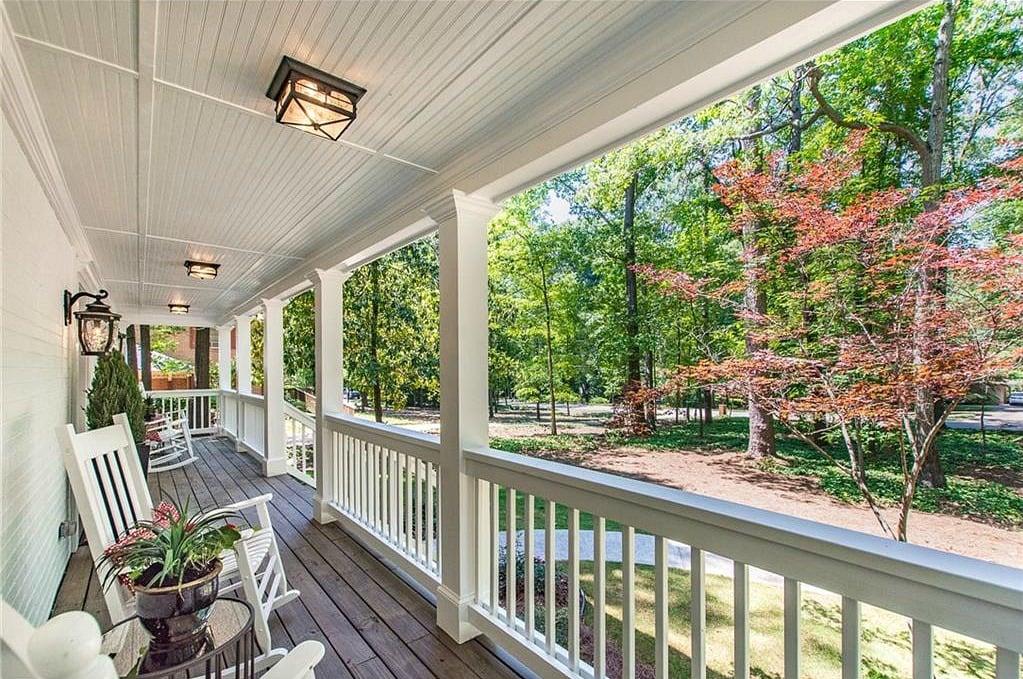 Beautiful white porch