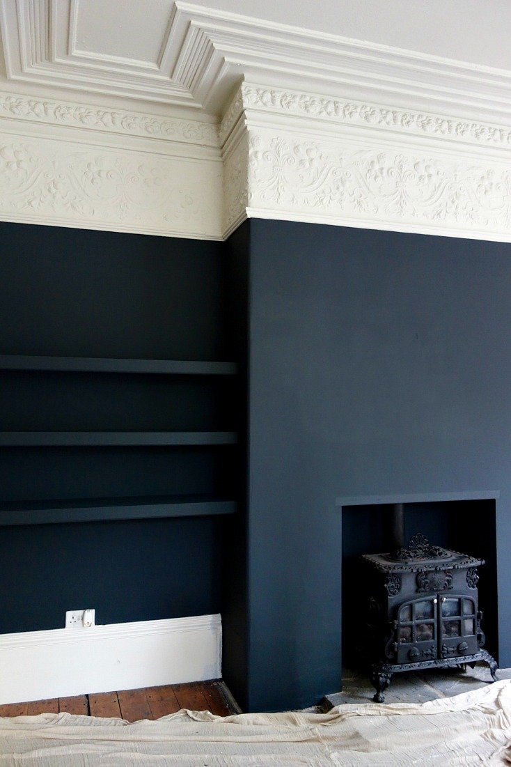 Farrow and Ball Off Black and Shaded White.