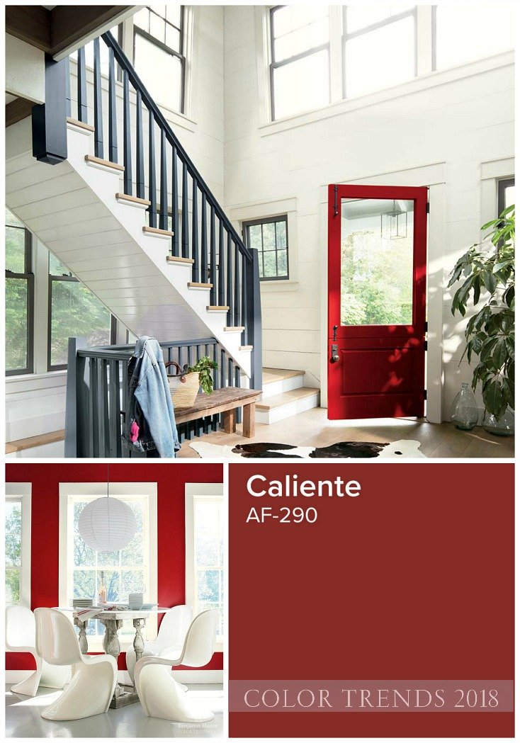 Benjamin Moore 2018 Color of the Year is Caliente.