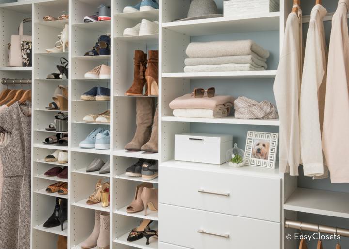 EasyClosets White Closet Organizing System.