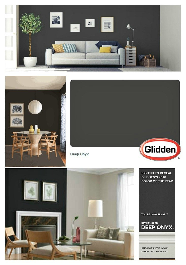 Glidden Paint 2018 Color Of The Year Is Deep Onyx