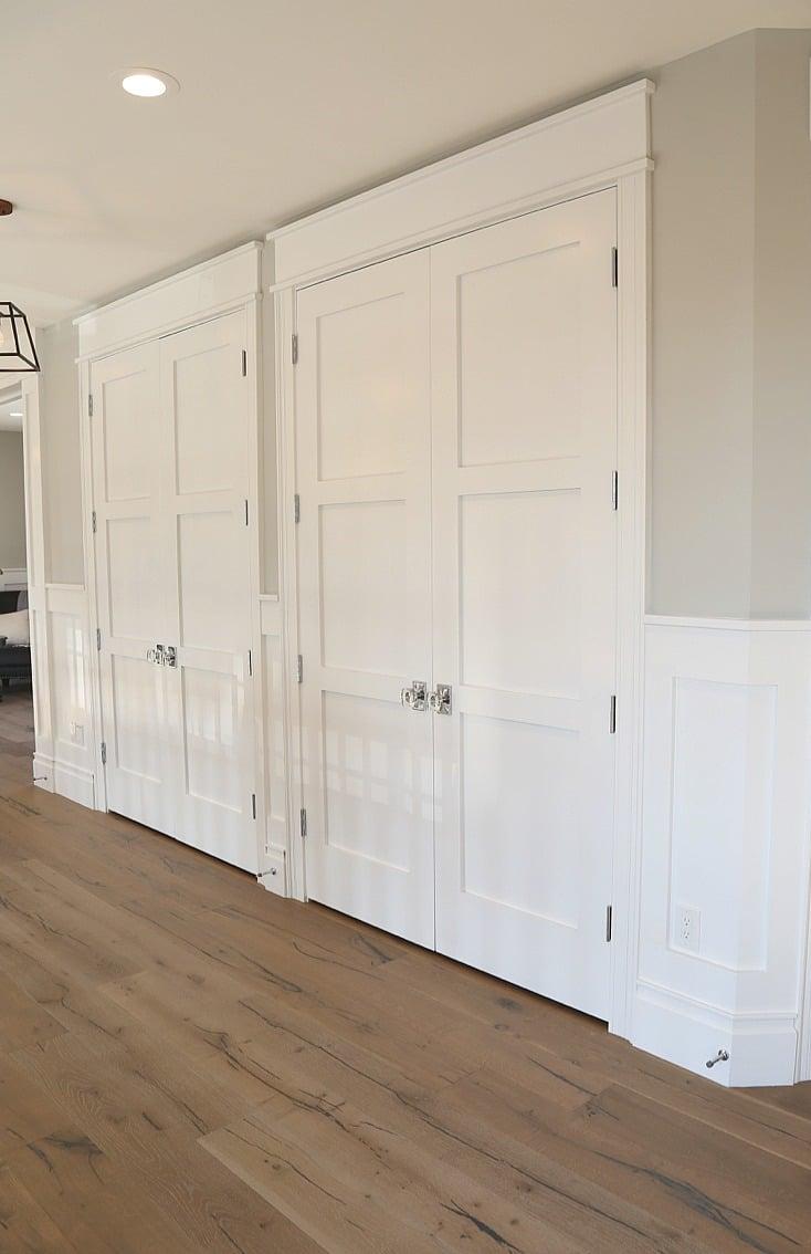 Interior door color is Benjamin Moore Super White.