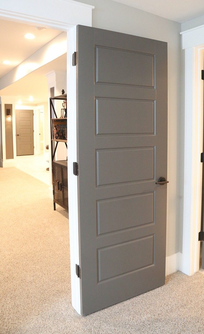 Interior Door Painted With Kwal Paint In The Color Brainchild
