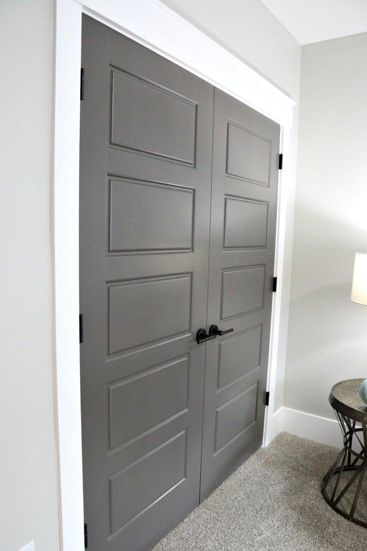 grey painting interior doors for bedroom | Choosing Interior Door Styles and Paint Colors: Trends