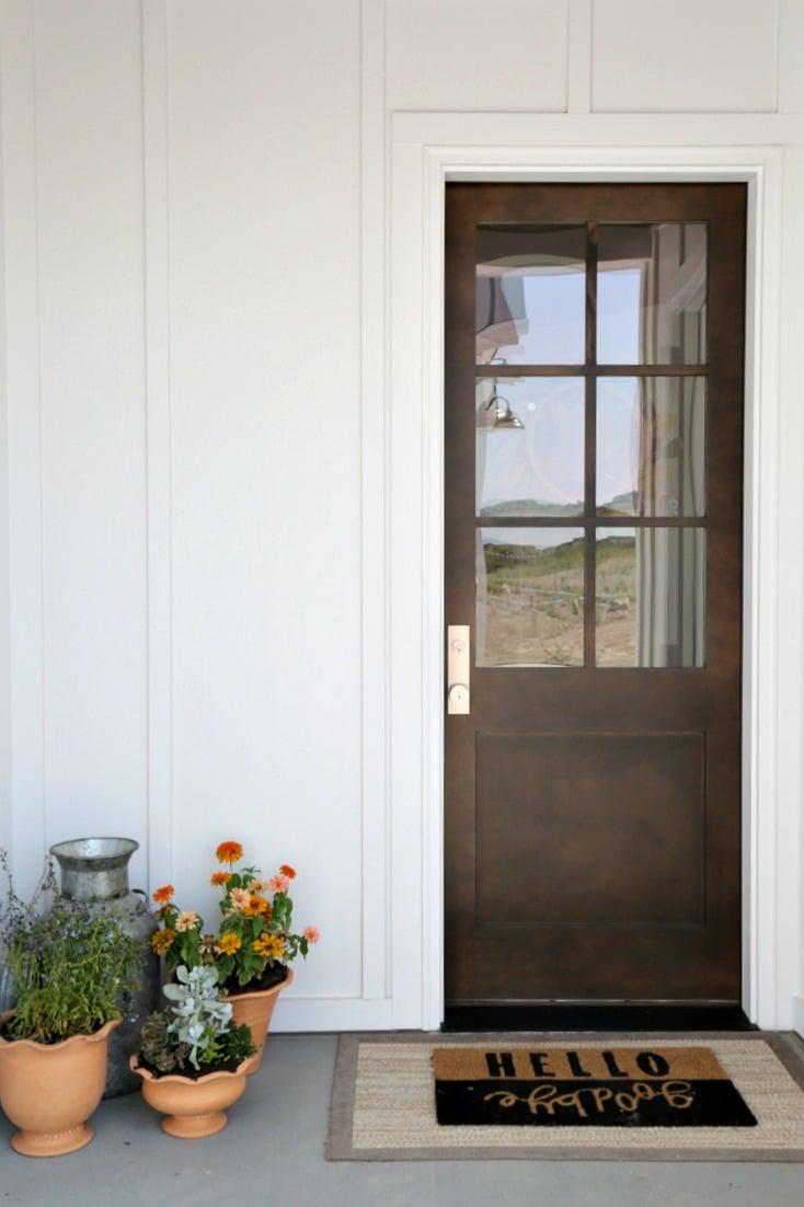 Modern Farmhouse Back Door. Magleby Communities