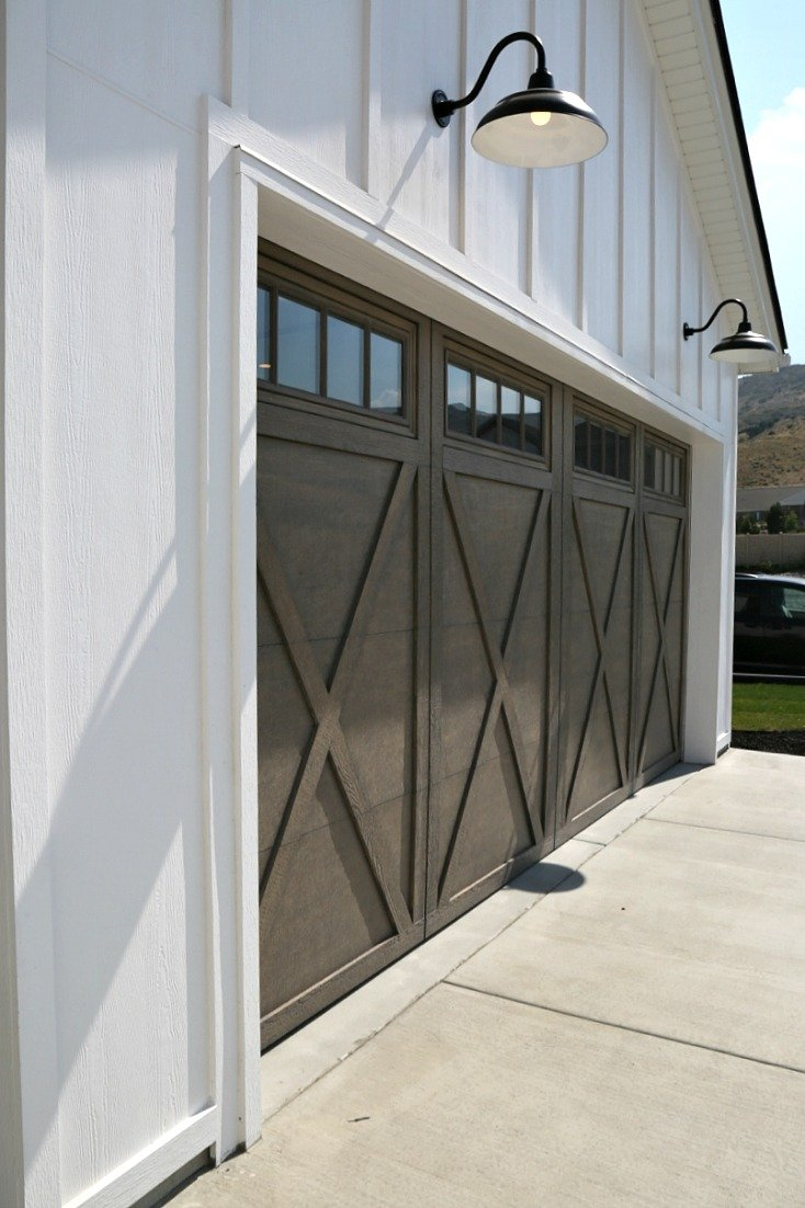 Modern Farmhouse Garage Doors. Magleby Communities