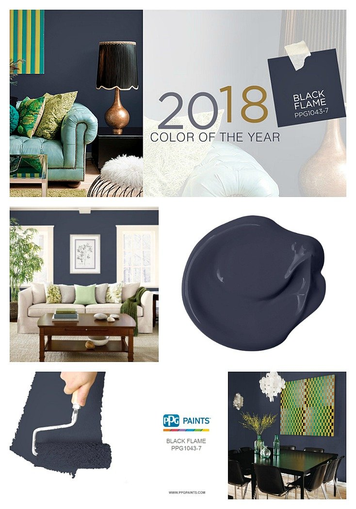 PPG Pittsburgh Paints 2018 Color of the Year is Black Flame.