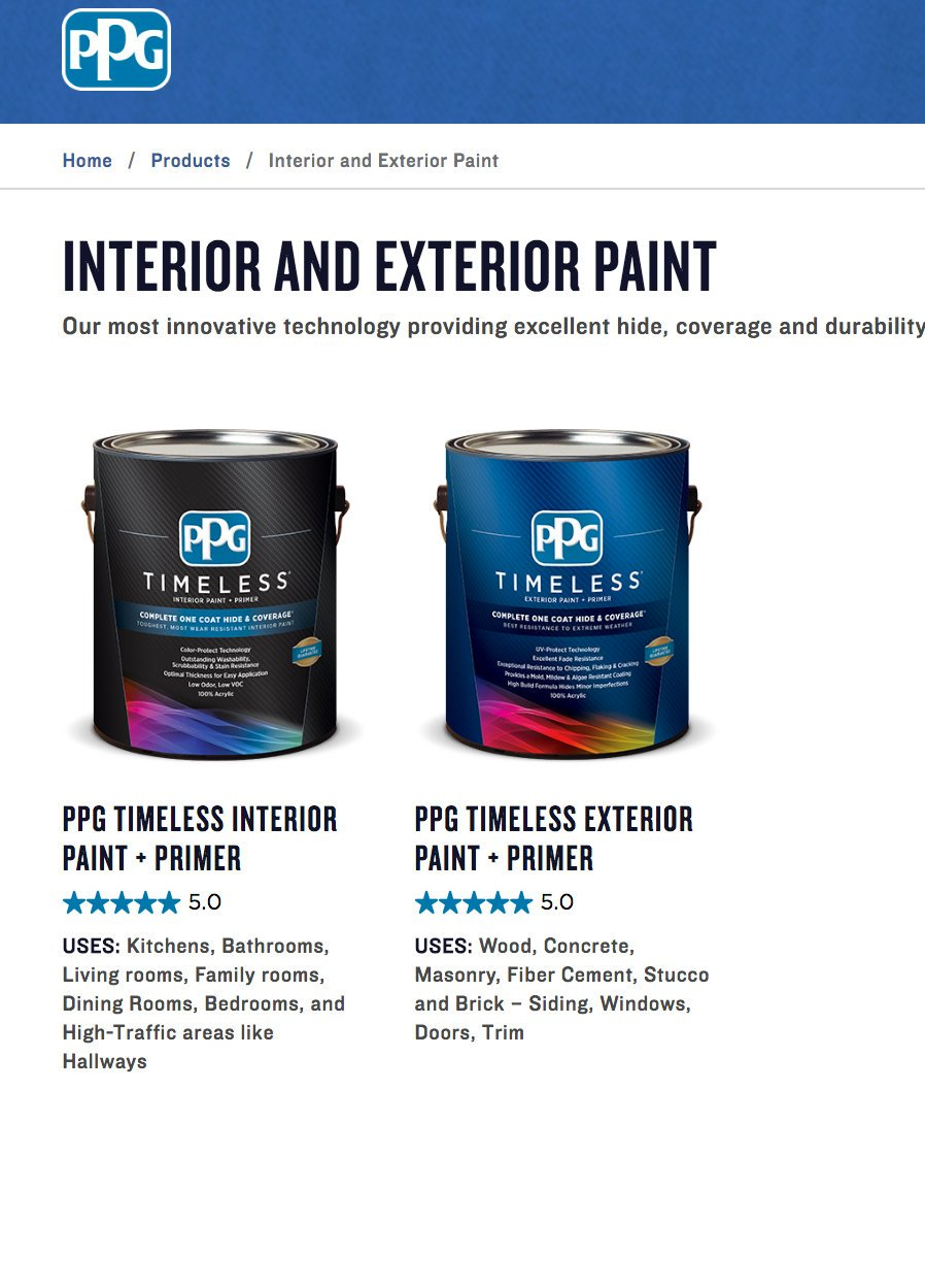 Good levelling good coverage good washability excellent hiding low - New Ppg Timeless Paint Exterior And Interior