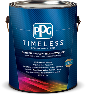 The new PPG Timeless Exterior Paint Plus Primer