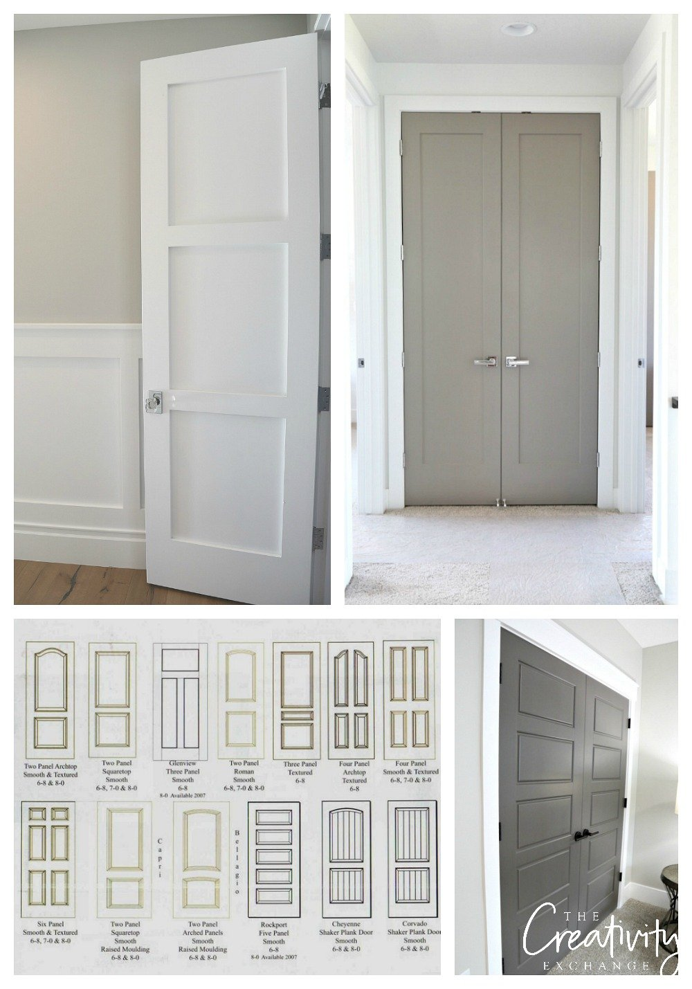 Tips for choosing interior door colors and styles.