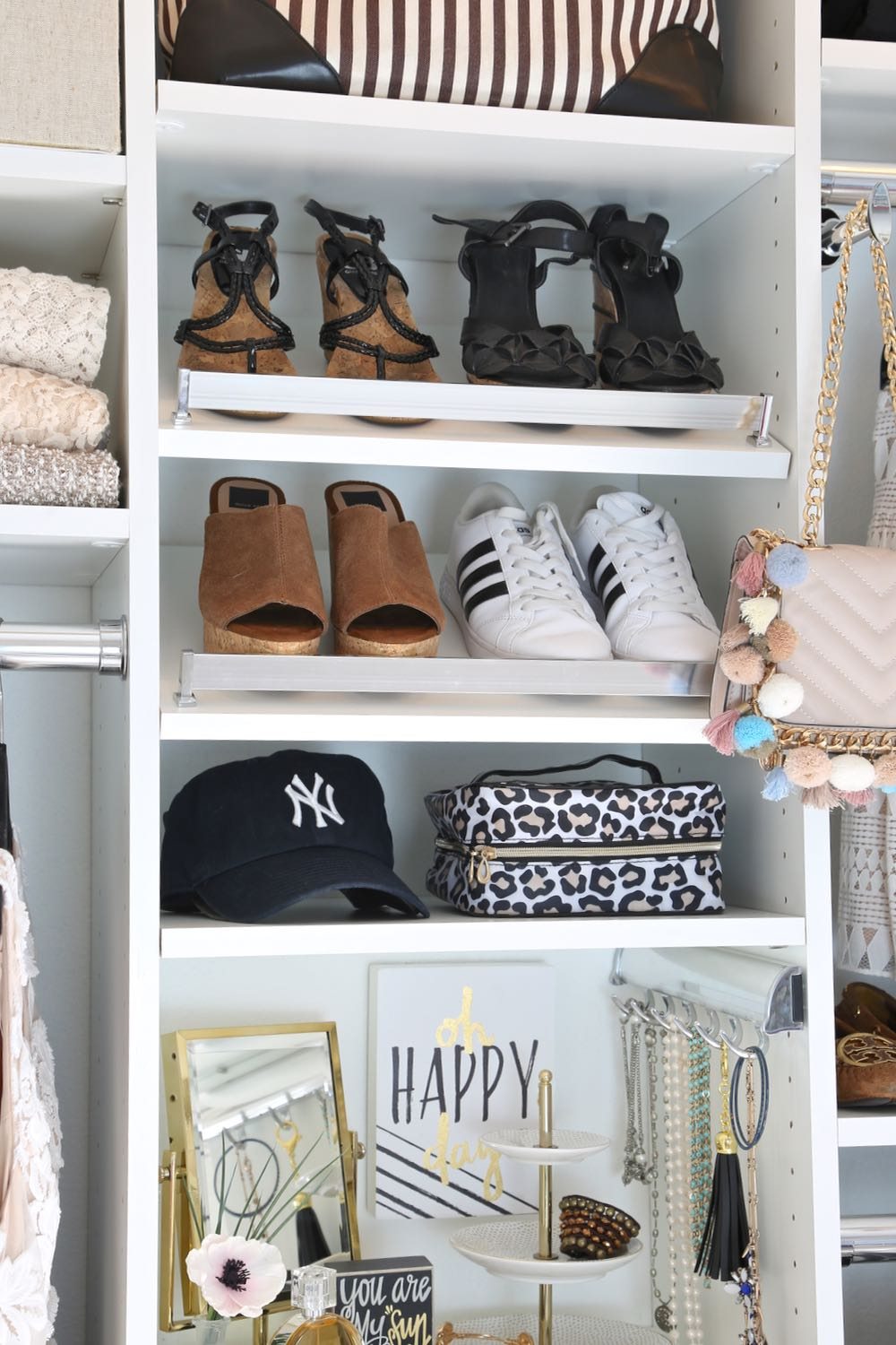 Closet makeover project with EasyClosets.