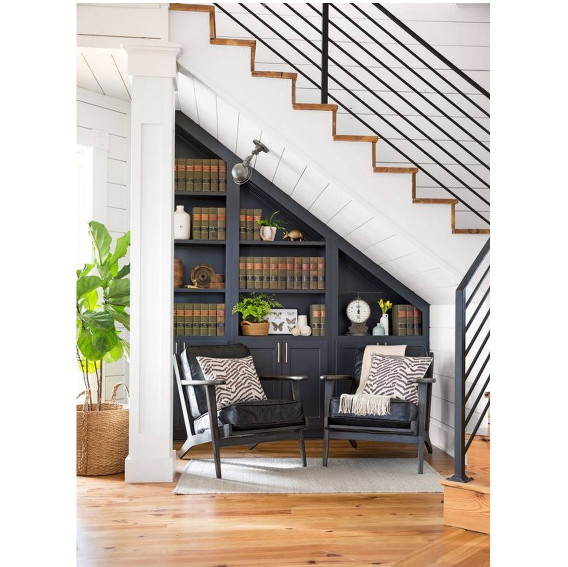 Under the stair reading nook.