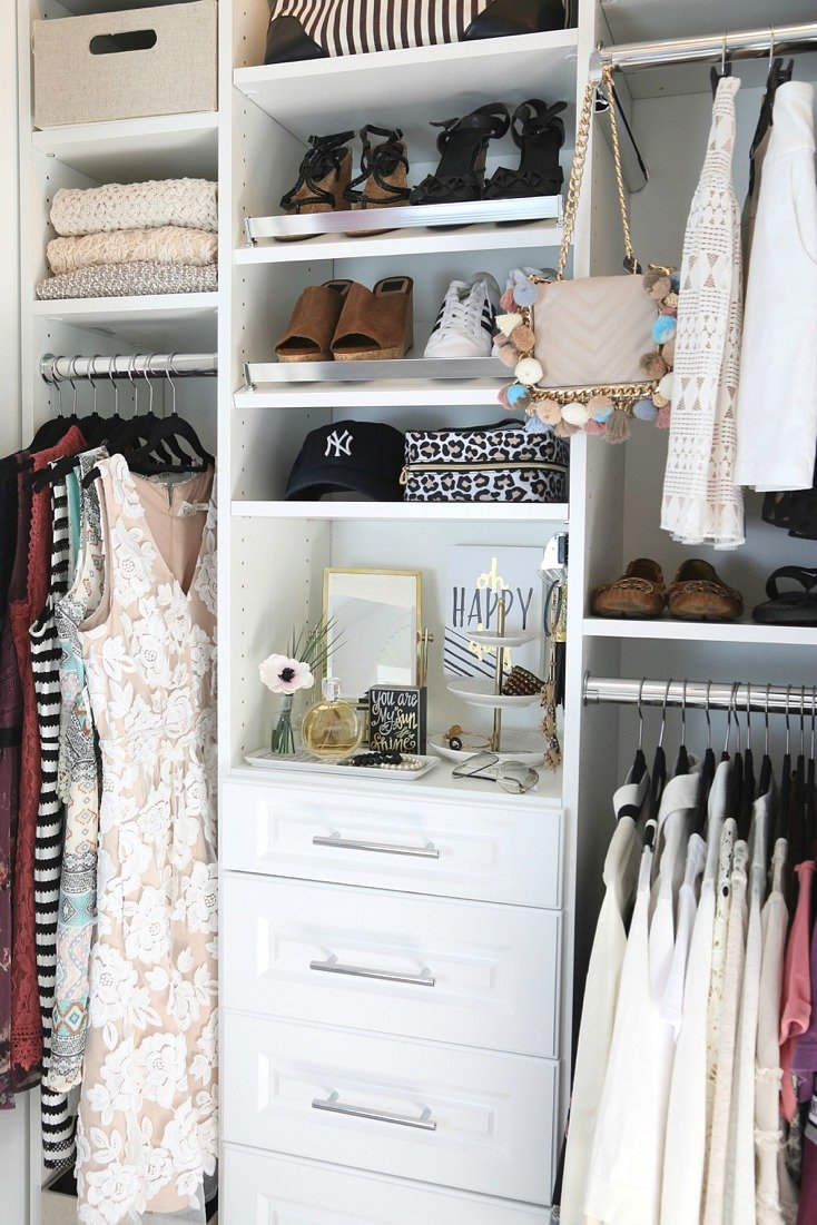 Closet makeover before and after with EasyClosets
