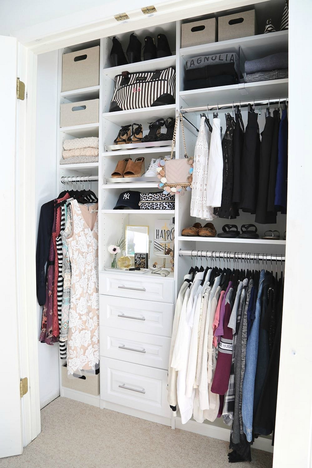 Creative closet makeover with easyclosets for Easyclosets