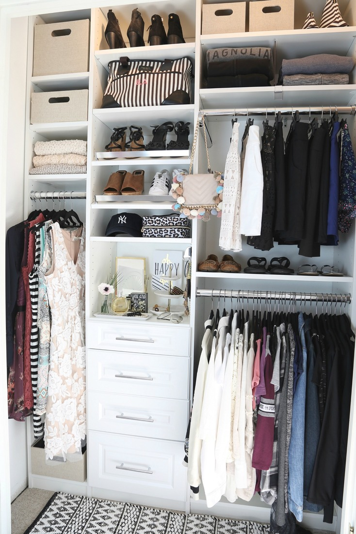 Closet makeover with EasyClosets.