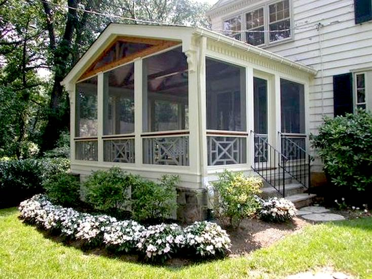 Landscaped Screened Porch