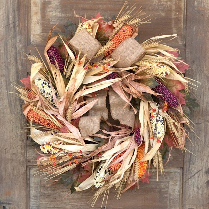 Fall Corn Wreath