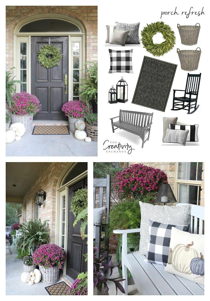 Fall porch refresh and decor.