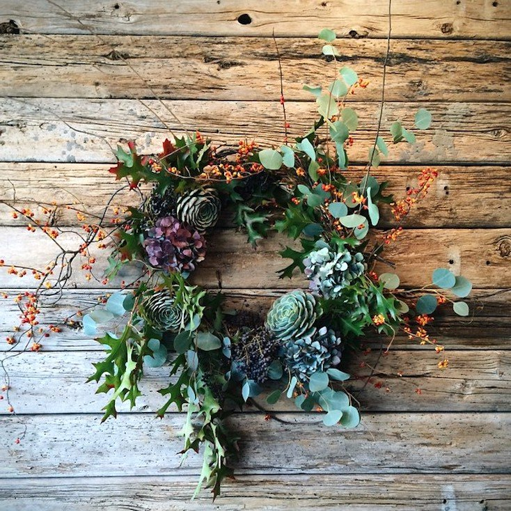 Foraged Fall Wreath