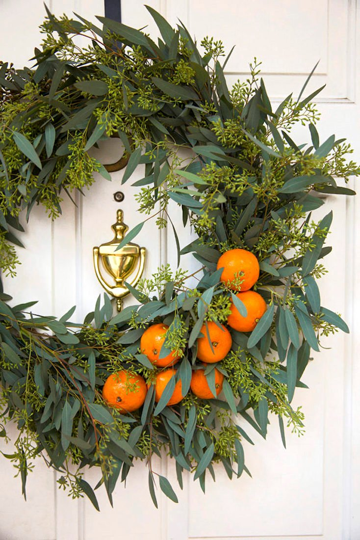Orange and Eucalyptus Fall Wreath