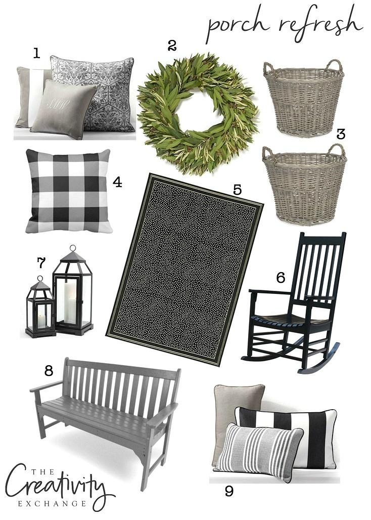 Porch decor and refresh,