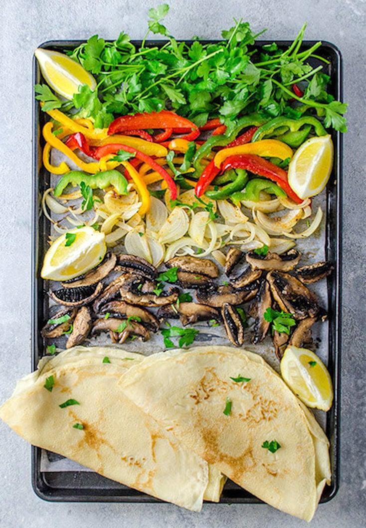 Sheet Pan Portobello Mushroom Fajitas