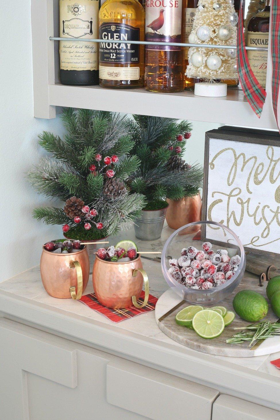 Christmas Bar Set Up.
