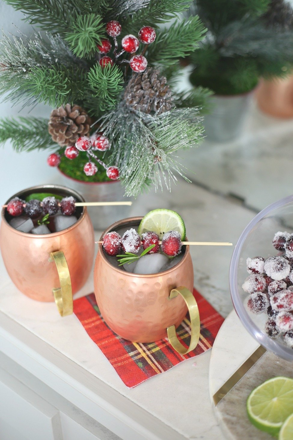 Christmas Moscow Mule Cocktail.