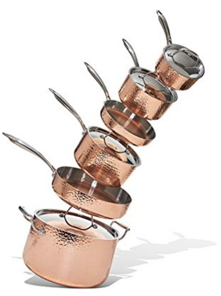 Combo copper and stainless cookware on Oprah's Favorite Things list.